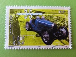 """Timbre France YT 3317 - Série """"Collection Jeunesse"""" - Voitures Anciennes - Bugatti - 2000 - France"""