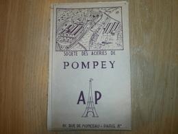 Shéma Implantation De La SOCIETE DES ACIERIES DE POMPEY   PARIS XIIIème - Planches & Plans Techniques
