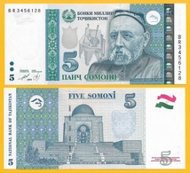 Tajikistan 5 Somoni P-23 1999 (2013) UNC - Tadzjikistan