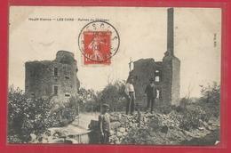 87 - Les Cars - Ruines Du Chateau - Hommes Sur Un Mur - France