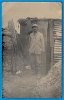 CPA CARTE-PHOTO (un Poilu) * MILITARIA Militaire Soldat Guerre Tranchée - Guerra 1914-18