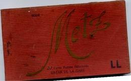 Dt 57 METZ - Album Carnet De 19 Cartes Postales Détachables - Édition LL - Bazar De La Gare - 2 Scans - Metz