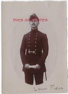 Louis FIDON élève à L'école De Santé Militaire à Lyon-petite Photo Albuminée 6,4 X 9,1cm-famille Savin - Guerre, Militaire