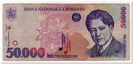 ROMANIA,50 000 LEI,1996,P.109,VF - Rumania