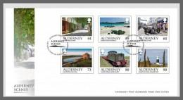 H01 Alderney 2017 Alderney Scenes FDC MNH Postfrisch - Alderney