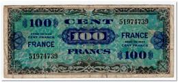 FRANCE,100 FRANCS,1944,P.123,aF,PINHOLES - Frankrijk