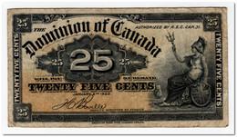 CANADA,25 CENTS,1900,P.9b,F-VF - Kanada