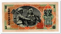 KOREA,1 WON,1947,P.8,AU - Korea, North
