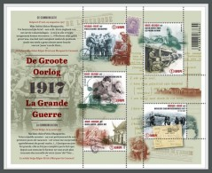 H01 Belgium 2017 The Great War Part 4 MNH Postfrisch - Ungebraucht