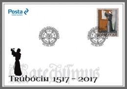 H01 Faroe Islands 2017 Martin Luther Reformation FDC MNH Postfrisch - Estland