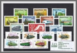 H01 Hungary 2017 Trains Railway II MNH Postfrisch - Hongrie