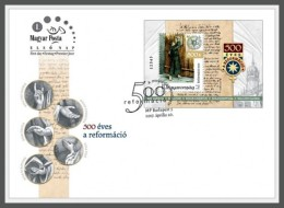 H01 Hungary 2017 Martin Luther Reformation FDC MNH Postfrisch - Ungarn