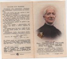 Santino Con Reliquia Del Servo Di Dio Don Francesco Paleari (Pogliano Milanese, Milano 1863 – Torino 1939) - Devotion Images