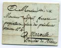 MP 5 DIGNE  / Dept Des Basses Alpes / 19 Janvier 1827 - 1801-1848: Precursors XIX