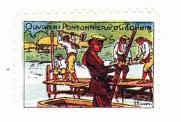 Vignette Militaire Delandre - Ouvriers Pontonniers Du Tonkin - Vignettes Militaires