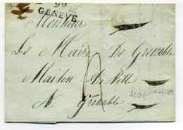 """Dept Conquis : 99 GENEVE  Avec Variété """" Second 9 Cassé """" / 4 Avril 1809 - 1701-1800: Précurseurs XVIII"""