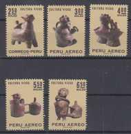 Peru Mi# 751-55 ** MNH Vicus Indians 1970 - Perù