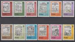 Peru 12 Stamps Ex Mi# 867-920 ** MNH INKA  1972-73 - Peru