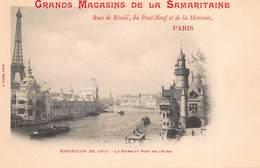CPA Grands Magasins De La Samaritaine - Expositions De 1900 - La Seine Au Pont De L' Alma - Exhibitions