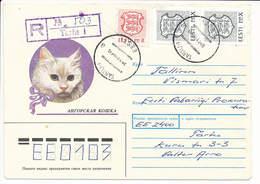 Registered Commercial Cover - 28 November 1992 Tartu-1 - Estonia