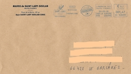 Enveloppe Illustrée Mairie Saint Lary Soulan + Flamme EMA HU 148680 Chien Hund Dog Pyrénées - Chiens