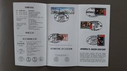 Postfolder 3 1993 Antwerpen 93 Culturele Hoofdstad Van 2495 - 2499 Stempel Voorverkoop Antwerpen - Belgio