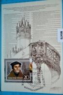 M0478 FDC 500. Geburtstag Martin Luther, Religion, HU 1983 - Tarjetas – Máximo