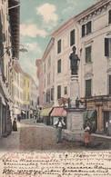 Salò-brescia-lago Di Garda-via Interna Paese-bellissima Cartolina Viaggiata Il 2-5-1904-tassata Al Retro - Brescia