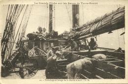 SPM  -- St PIERRE - Tranchage Et Lavage De La Morue à Bord                    -- GM 21 - Saint-Pierre-et-Miquelon