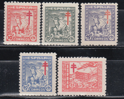 1944  EDIFIL Nº 984 / 988   /**/ - 1931-Hoy: 2ª República - ... Juan Carlos I