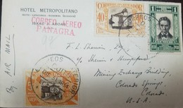 O) 1931 ECUADOR, CORREO AEREO PANAGRA, OLMEDO SCT 304 1c - SCENE IN QUITO SCT 311 40c - SCENE IN QUITO SCT 312 50c, AIRM - Ecuador