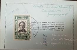 O) 1935 ECUADOR, OLMEDO SCOTT 304 1c - PRIMER DIA DE VUELO, TO GUAYAQUIL, XF - Ecuador