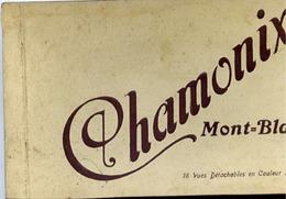 74 CHAMONIX MONT-BLANC - Album Carnet 15 Cartes Postales Détachables LL Et ND Couleur - Chamonix-Mont-Blanc