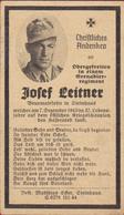 Sterbezettel Deutscher Soldat Josef Leitner 1943 Obergefreiter Sterbebild Weltkrieg WK 2 II World War 2 WW2 WWII - 1939-45