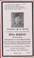 Sterbezettel Deutscher Soldat Otto Schlierf Obergefreiter Pionier Batl. Sterbebild Weltkrieg WK 2 II World War WW2 WWII - 1939-45