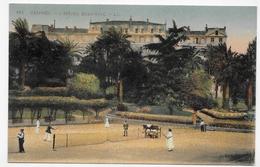 CANNES - N° 161 - L' HOTEL BEAU SITE - COURS DE TENNIS AVEC PERSONNAGES - CPA NON VOYAGEE - Cannes