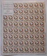 REPUBBLICA ! 1965 ITALIA 40 LIRE GIORNATA RISPARMIO FOGLIO INTERO MNH** ! 1008 - Fogli Completi