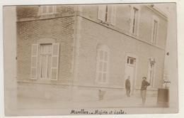 Carte Photo 51. Marolles . Mairie Et école 1907 - France