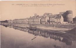 CPA  - 109. ANGERS Les Quais, Le Château Et La Maine - Angers