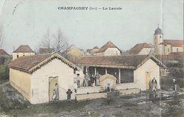 Champagney (Jura) - Le Lavoir - Edition Saget - Carte Colorisée Animée - Autres Communes