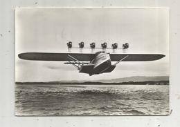Cp , AVIATION , Allemagne ,1932 , DORNIER Do-X-I. , Voyagée 1966 ,publicité Transfusine, écrite - 1919-1938: Between Wars