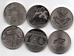 Ukraine - Set 3 Coins 10 Hryven 2018 Volunteer + Airport + Ukrainian Navy Ukr-OP - Ukraine