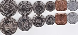 Suriname - 1 5 10 25 100 250 Cent 1979 - 1989 UNC Set 6 Coins Ukr-OP - Suriname 1975 - ...