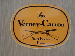 AUTOCOLLANT VERNEY-CARRON SAINT-ETIENNE FRANCE - Aufkleber