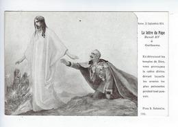 CPA Guerre 1914 1918 Jésus Guerre Européenne De 1914 Édition Patriotique La Lettre Du Pape Benoit XV à Guillaume - Guerra 1914-18