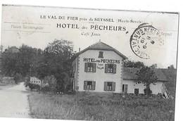SEYSSEL LE VAL DE FIER  PRES SYSSEL  HOTEL DES PECHEURS  CAFE JANIN   ATTELAGE  DEPT 74 - Seyssel