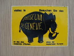 AUTOCOLLANT MUSEUM DE GENEVE - Autocollants