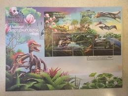 Hungary 2018. Animals / Flowers / Dinosaurus Very Nice Sheet On FDC - Stamps