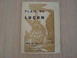CARTE PLAN DE LA VILLE DE LUCON - Cartes Géographiques