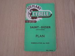 CARTE PLAN CYBELE  DE LA VILLE DE SAINT-DIZIER - Carte Geographique